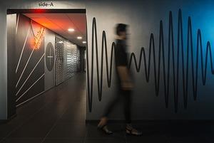 Интерьер нового IT-офиса: много музыки на высоте птичьего полета