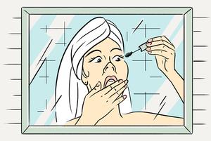 Чаму дзяўчаты раззяўляюць рот, калі фарбуюць вочы?