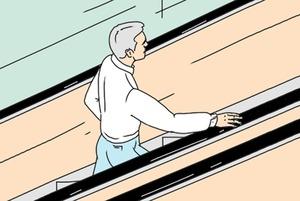 Чаму поручні і прыступкі эскалатара у метро рухаюцца з рознай хуткасцю?