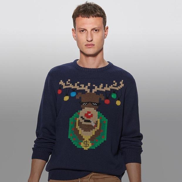 9f3a52e4b1518 18 праздничных свитеров с оленями (и не только), в которых не стыдно  появиться