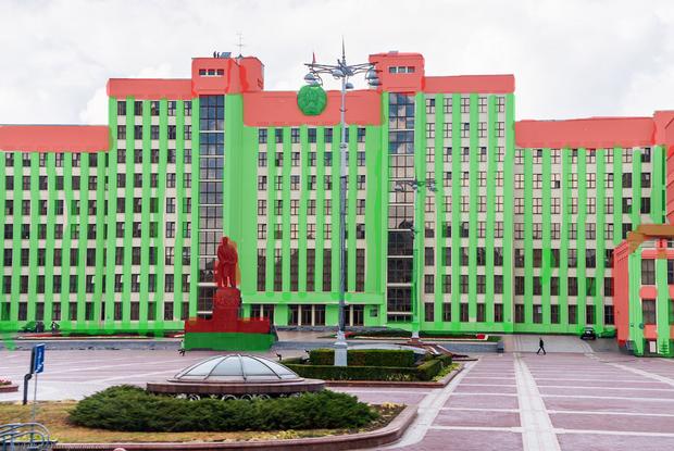 «Очень красиво»: Как будет выглядеть Минск, когда власти наконец перекрасят его в красно-зеленый — Забаўкі на The Village Беларусь