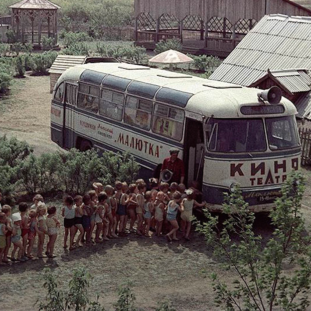 Как выглядели кинотеатры в автобусах в советском Минске