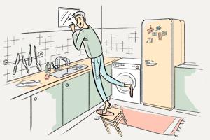 Нашто акно паміж ванным пакоем і кухняй?